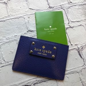 Kate Spade pebbled leather card holder wallet